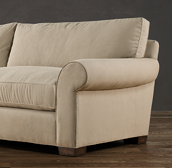 "104"" Grand-Scale Roll Arm Upholstered Sofa"