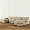 Grand-Scale Roll Arm Upholstered U-Chaise Sectional
