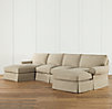 Grand-Scale Roll Arm Slipcovered U-Chaise Sectional