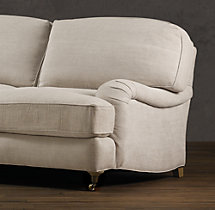 "84"" English Roll Arm Upholstered Sleeper Sofa"