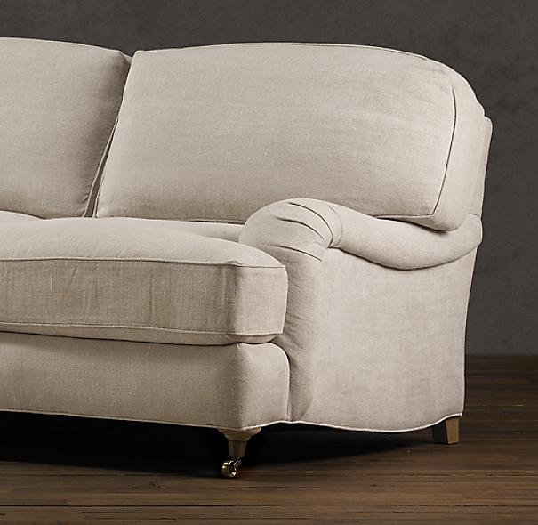 English Roll Arm Sofa: English Roll Arm Upholstered Sofa