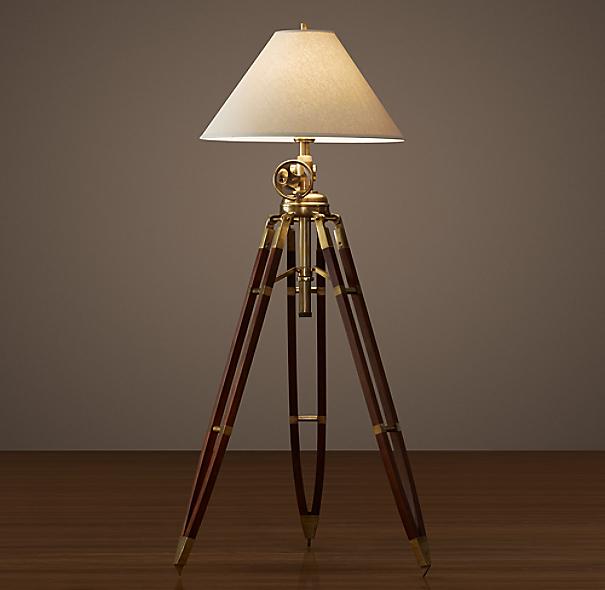 royal marine tripod floor lamp. Black Bedroom Furniture Sets. Home Design Ideas