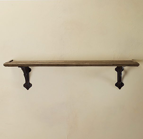 Bow and Arrow Bracket & Wood Shelf