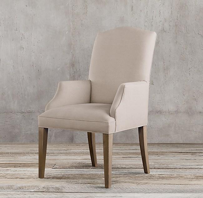 Hudson Camelback Upholstered Armchair