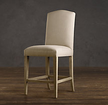 Hudson Camelback Upholstered Counter Stool