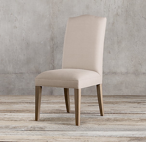 Hudson Camelback Upholstered Side Chair