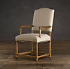Empire Camelback Upholstered Armchair