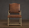 Empire Camelback Leather Armchair