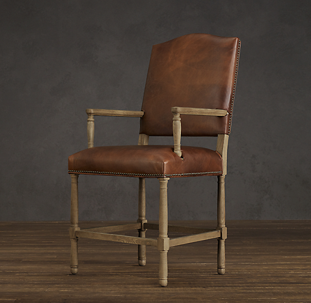 Empire Camelback Leather Counter Stool