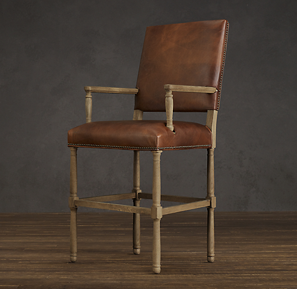 Empire Parsons Leather Barstool