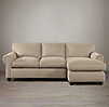 Lancaster Upholstered Right-Arm Sofa Chaise Sectional