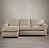Lancaster Upholstered Left-Arm Sofa Chaise Sectional