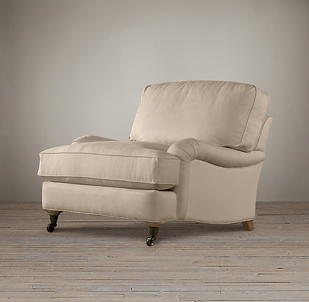 English Roll Arm Upholstered Chair