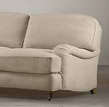 "72"" English Roll Arm Upholstered Sofa"