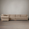 Grand-Scale Roll Arm Upholstered L-Sectional