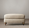 English Roll Arm Upholstered Ottoman