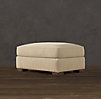 Grand-Scale Roll Arm Upholstered Ottoman