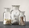 Clear Glass Pharmacy Bottles Set of 3