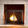 Rivet Hearth Flat Screen with Doors