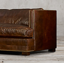 "6"" Easton Leather Sofa"