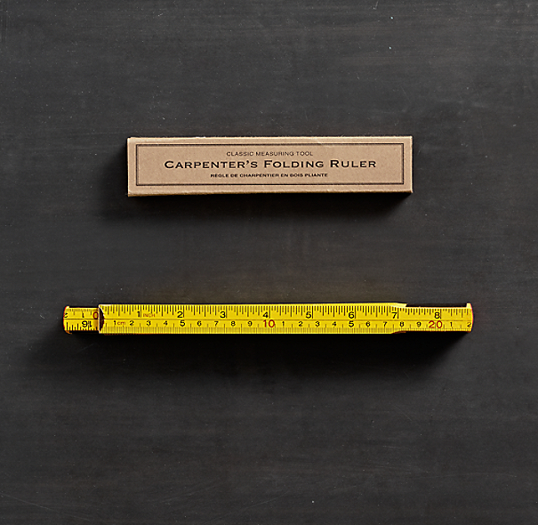 Carpenter's Wooden Folding Ruler