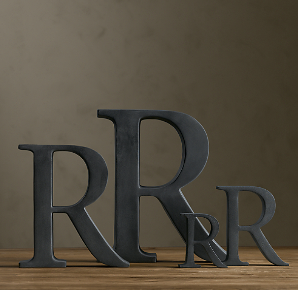 Cast Metal Letter Object-R