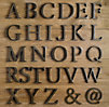 Cast Metal Letter Object-@