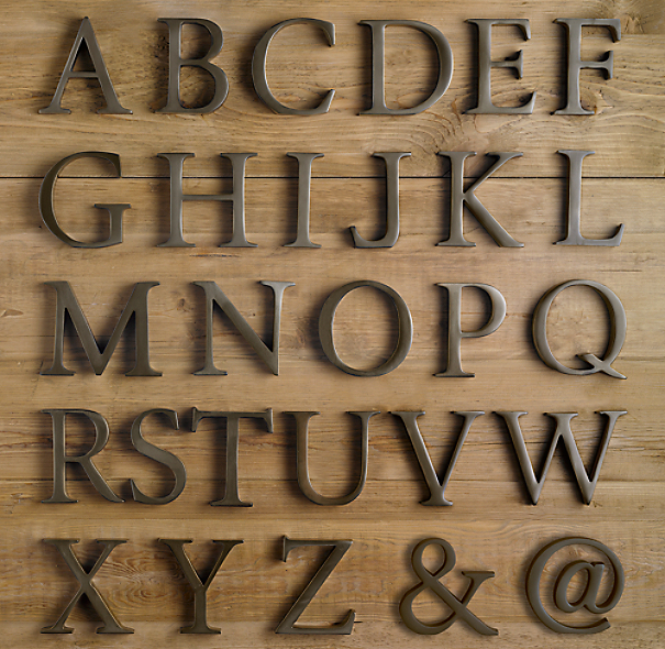 Large Metal Letters For Wall Cast Metal Letter Objects