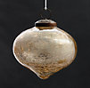 Vintage Hand-Blown Glass Ornament Onion - Gold