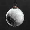 Vintage Hand-Blown Glass Ornament Ball - Silver