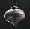 Vintage Hand-Blown Glass Ornament Onion - Smoke