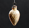 Vintage Hand-Blown Glass Ornament Spindle - Gold
