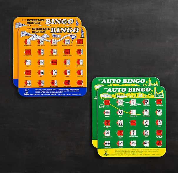 Auto and Interstate Highway Bingo