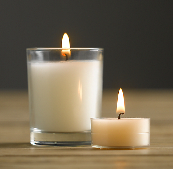Unscented Filled Votives (Set of 6)