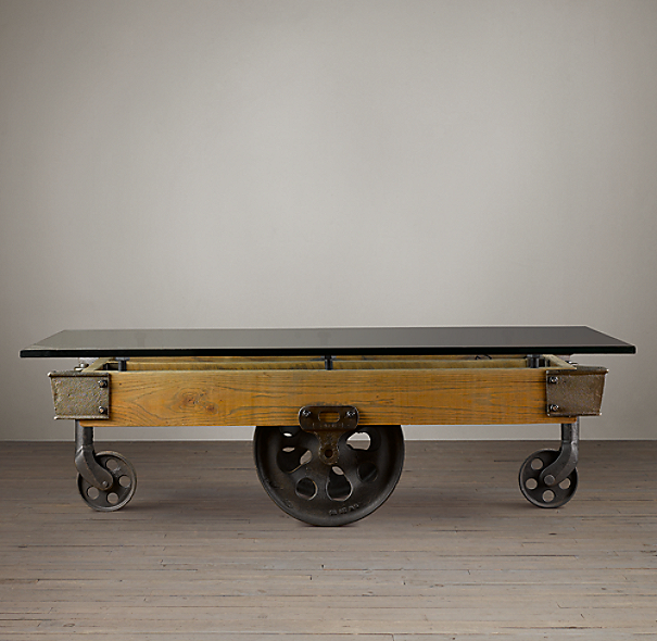 Glass Top Furniture Factory Cart