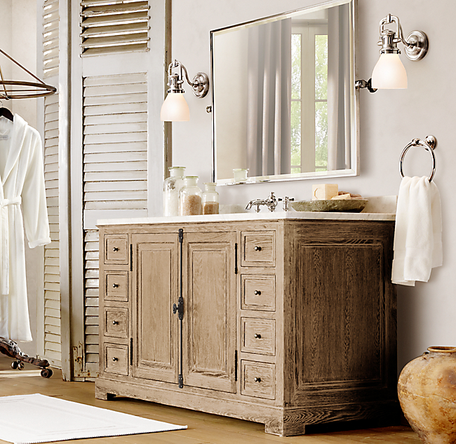 Elegant The 1930s Laboratory Collection Is An Unusual Set Of Bathroom Furniture It Was Designed By Restoration Hardware  This Is A Collection Of Vanities And Storage Cabinets And They All Feature Zinc Hardware And Customizable Italian