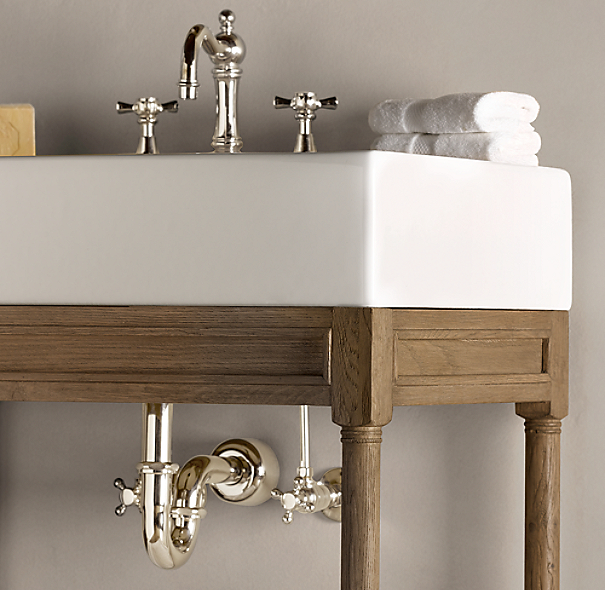 Weathered Oak Single Console Sink | Single | Restoration Hardware