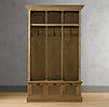 Shutter Weathered Oak 3-Bin Entry Locker