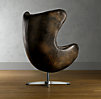 1950s Leather Copenhagen Chair