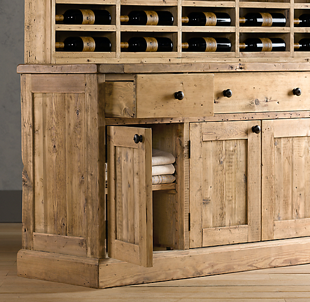 Salvaged Wood Vintner's Hutch