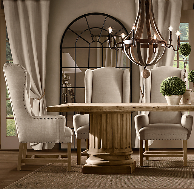 wingback upholstered dining chair | Pottery Barn
