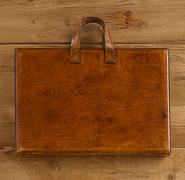 Artisan Leather Computer Lap Desk & Tote Chestnut