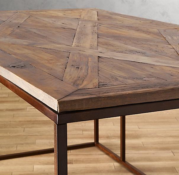 Reclaimed Wood & Metal Desk