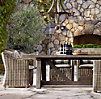 "120"" Provence Beam Rectangular Dining Set (Set of Table and 8 Bucket Armchairs)"