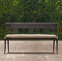 Klismos Bench Painted Metal