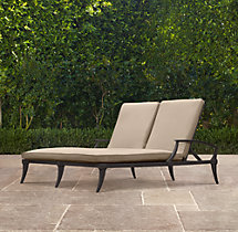 Klismos Double Chaise Painted Metal