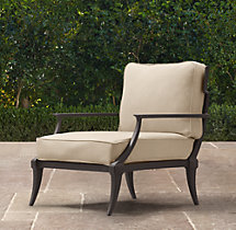 Klismos Luxe Lounge Chair Painted Metal