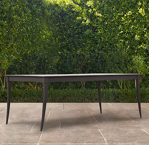 "84"" Klismos Rectangular Dining Table Painted Metal"