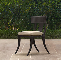 Klismos Luxe Side Chair Painted Metal