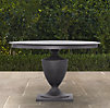 "48"" Klismos Small Round Dining Table Painted Metal"